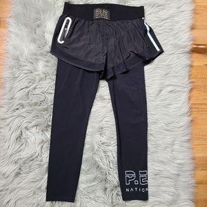 PE Nation Medium Black Layered Shorts Leggings